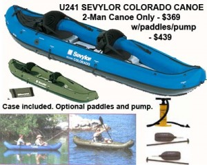 sevylon inflatable colorado canoe specs